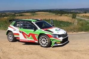 Max Rendina al via del  Rally Rzeszow in Polonia